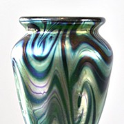 Tiffany Favrile Miniature King Tut Pattern Vase