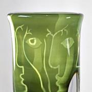 """Orrefors """"Ansikten"""" Ariel Vase by Ingeborg Lundin"""