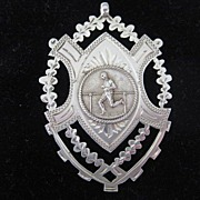 Large English Silver Hallmarked Presentation Medal for Running