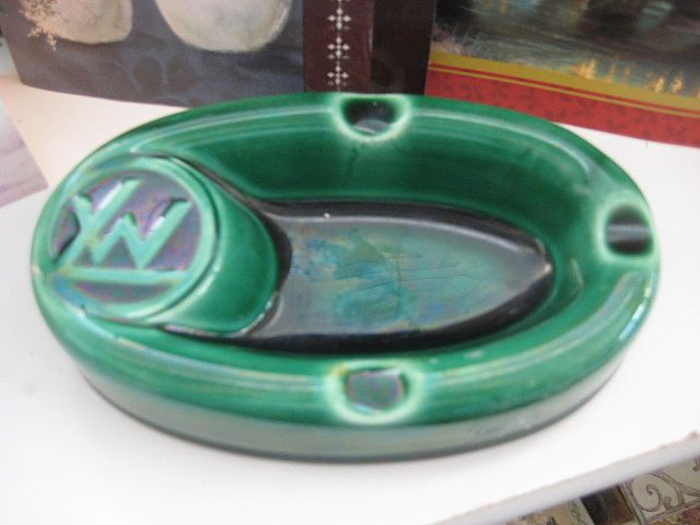FRENCH Vintage Ashtray Marked GIEN, France