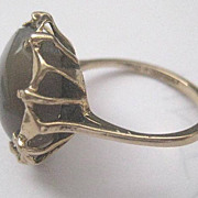 Antique 9ct Gold Agate Ring, c1908  Size 7