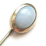 Victorian Gold Filled Stick Pin with Moonstone