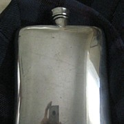 REDUCED: LARGE Vintage Silver Plated Whisky Flask