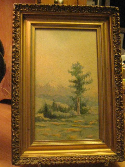 Delightful Older Watercolor in Old Frame