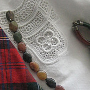 Victorian Scottish Agate Bracelet With Smaller Stones