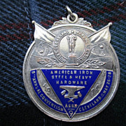 Large Silver Colored Medal American Iron & Steel Convention 1914