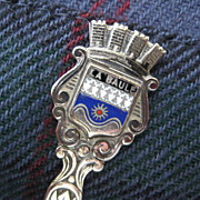 Vintage French August 15 Souvenir Spoon/La Baule Coat of Arms