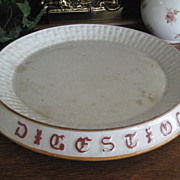 Large Victorian English Ironstone Platter - Twelve inches wide