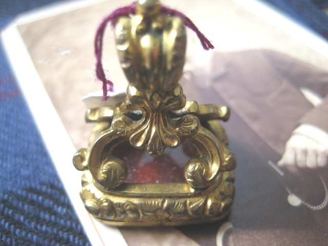 REDUCED Victorian Yellow Gold Filled Carnelian Fob/Seal