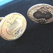 Revised: Pretty Vintage Gold Filled CUFFLINKS