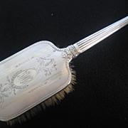 Vintage Silverplate on Copper Vanity Brush Monogrammed O.M.G.