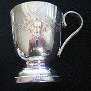 Beautiful English Hand Silver Plated Christening/Baptismal Cup