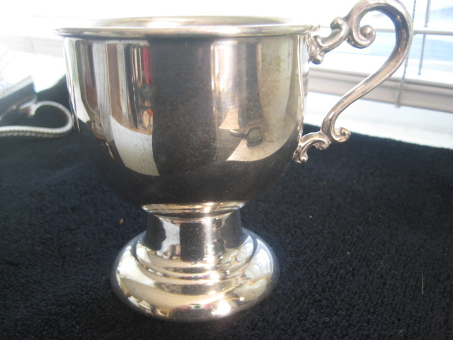 Vintage Silver on Copper Christening/Baptismal Cup