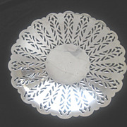 Vintage Cut-out Silver Plate Footed Dish by Crescent