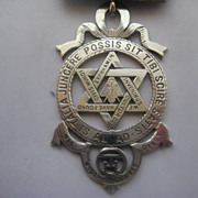 Large Masonic English Hallmarked Medallion