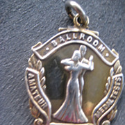 Vintage Hallmarked Silver Ballroom Dancing Medal 1950
