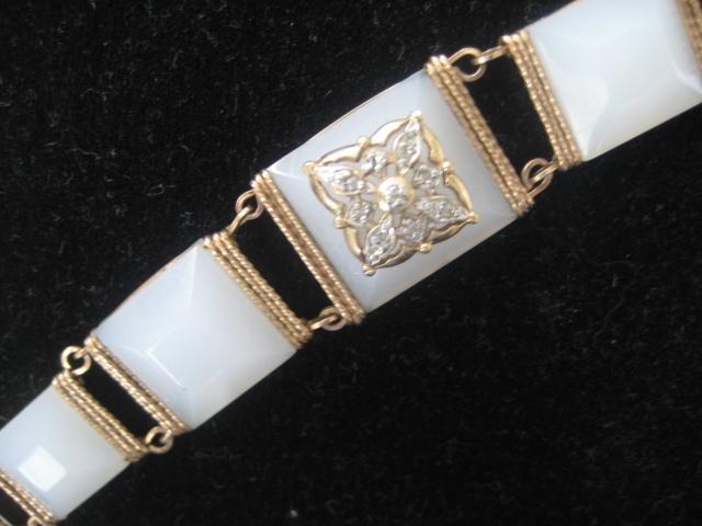 Pretty Vintage Rose Colored Gold Fill Bracelet