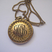 Pretty Monogrammed GF Locket- Mix of JMJB