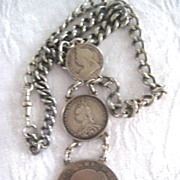Queen Victoria Headed Coin Necklace
