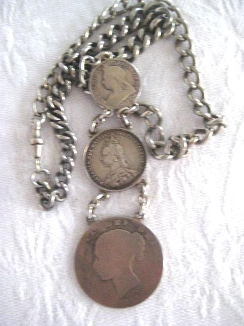 Queen Victoria Headed Coin Necklace
