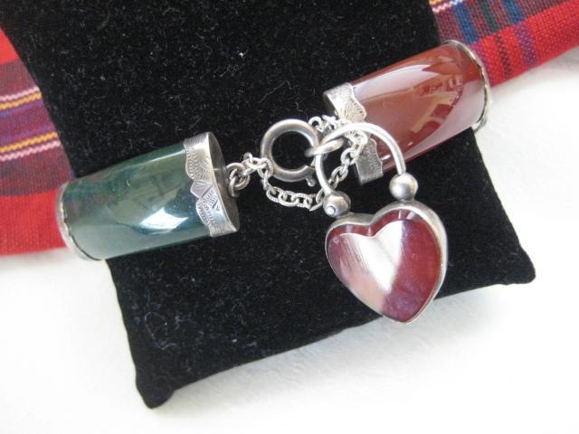 Victorian Scottish Bracelet w/Carnelian & Bloodstone