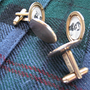 "Vintage Gold Tone ""Locket"" Cuff Links"