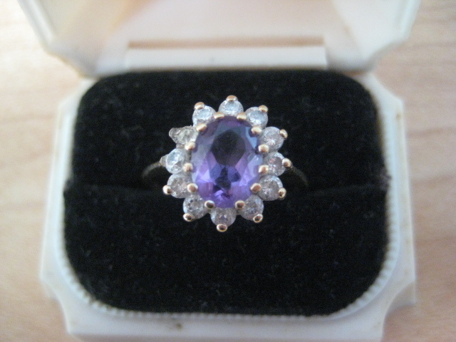 Sweet Vintage Amethyst Ring Size 6.5 - 7