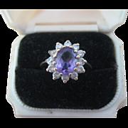 Sweet Vintage Amethyst Ring Size 6.5 - 7