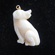 Adorable Angel Skin Coral Dog Pendant