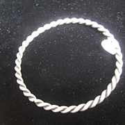 Vintage Twist Silver Bangle