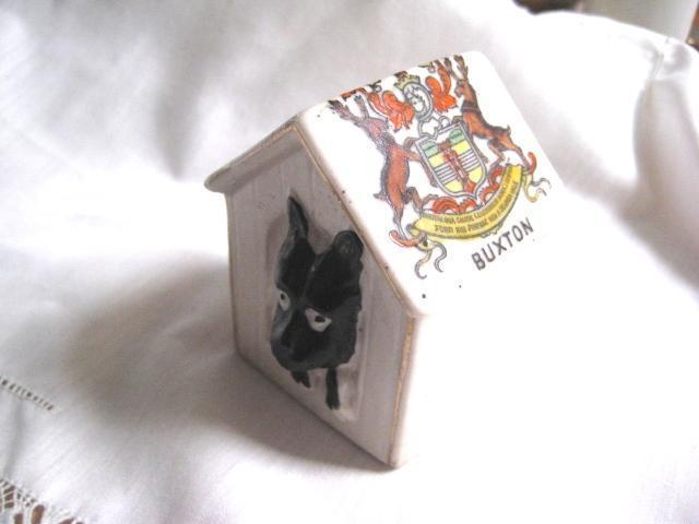 Porcelain Scotty Dog Commemorative from Buxton, England