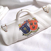 Commemorative Coat of Arms Porcelain Cricket Bag NEWTON ABBOT