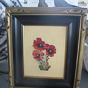 Pretty Vintage Floral Needlepoint