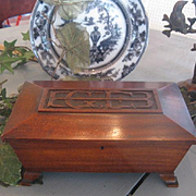 "Wonderful Art Deco Mahogany Box ""E G E B"""