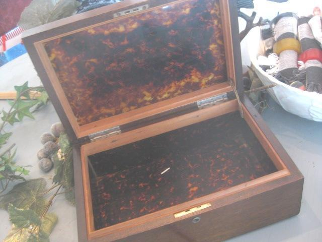 Beautiful Large Antique Wooden Box with Awesome Interior.