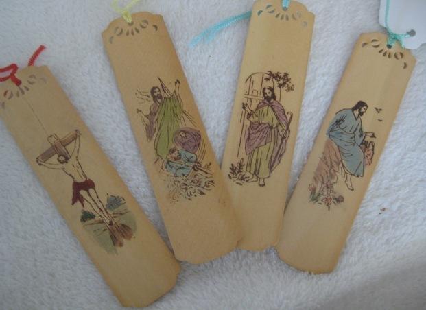 Set of 4 Vintage French Bookmarks/Japanese Writing