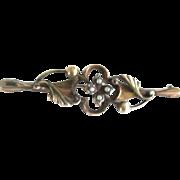 REDUCED: Pretty Victorian Gold Fill Brooch w/seed pearls