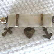 Sweet Victorian Pin w/Faith, Hope and Charity Synbols