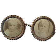 Pair of Early 1900s Portrait Pins