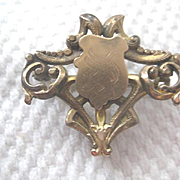 Victorian Gold Fill Guard Pin with hook