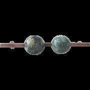 Early 1900s Irish Connamara Marble Bar Pin