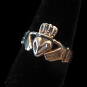Vintage Silver Man's Irish Claddagh Ring Size 10.75