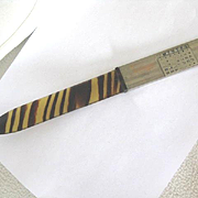 REDUCED: Vintage Faux Tortoiseshell Letter Opener w/Perpetual Calendar