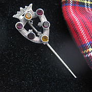 Beautiful Victorian Scottish Stick Pin w/stones