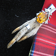 Traditional Scottish Grouse Claw w/Citrine