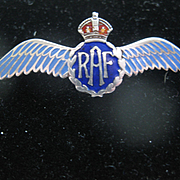 Vintage Silver/Enamel RAF (Royal Air Force) Pin