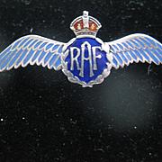 Vintage Silver/Enamel RAF (Royal Air Force) Pin