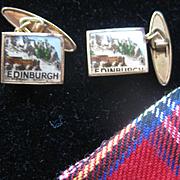 Edinburgh Castle Scotland -  Vintage Cufflinks