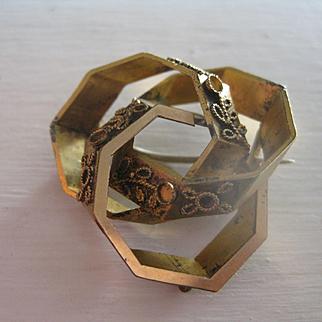 Victorian Pinchbeck Angular Brooch/Pendant