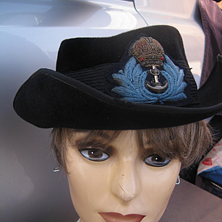 WW11 Naval Lady's Hat with Bullion Badge Band